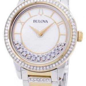 Bulova Crystal TurnStyle 98 L 245 kvartsi Diamond aksentti naisten Watch