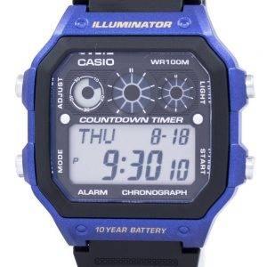 Casio nuorten sarja valaisin Chronograph hälytys AE 1300WH 2AV Miesten Watch