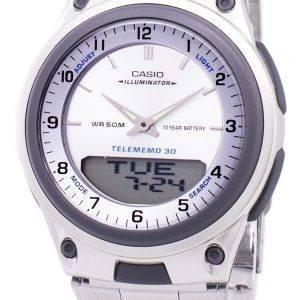 Casio analoginen digitaalinen Telememo valaisin AW-80D-7AVDF AW-80D-7AV Miesten kello
