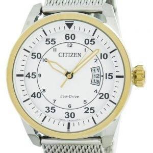 Citizen Aviator Eco-Drive Mesh bändi AW1364 54 Miesten Watch