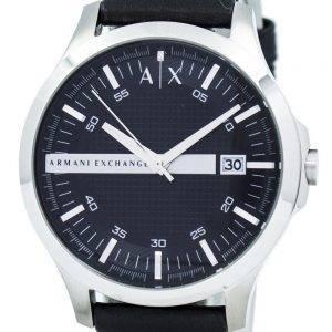 Armani Exchange musta soittaa nahka hihna AX2101 Miesten kello