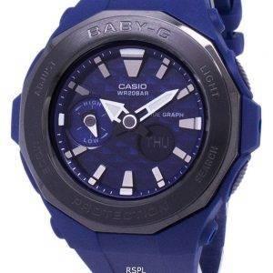 Casio Baby-G Tide kaavio analoginen digitaalinen 200M BGA-225G-2A BGA225G-2A naisten Watch