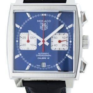 Tag Heuer Monaco automaattinen Chrongraph kaliiperi 12 Sveitsin tehty CAW2111. FC6183 Miesten Watch