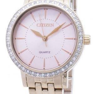 Kansalainen Quartz EL3043-81 X analoginen Diamond aksentti naisten Watch