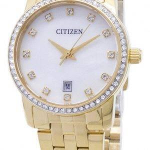 Kansalainen Quartz EU6032 - 51D analoginen Diamond aksentti naisten Watch