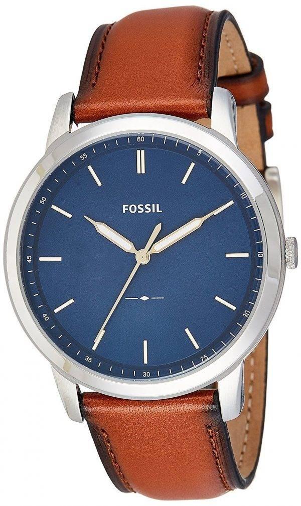 Fossiilisten minimalistinen 3H Slim Quartz FS5304 Miesten Watch