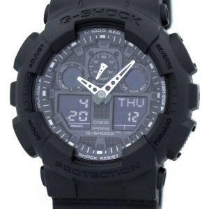 Seiko sotilaallinen matta musta GA 100 1A1 kellot