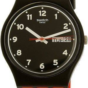 Swatch alkuperäiset punainen virne GB754 Unisex kvartsikellot
