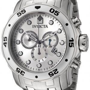 Invicta Pro Diver kvartsi Chronograph Silver Dial INV0071/0071 Miesten kello