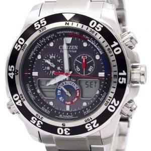 Kansalaisten Promaster Chronograph JR4045-57E JR4045 maailman aika Miesten kello