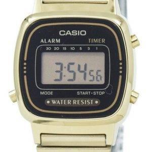 Casio Digital ruostumattomasta teräksestä herätyskello ajastin LA670WGA 1DF LA670WGA-1 Naisten kello