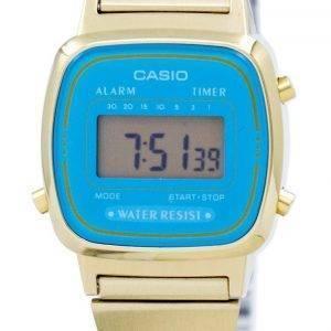Casio Digital ruostumattomasta teräksestä herätyskello ajastin LA670WGA 2DF LA670WGA-2 naisten kello