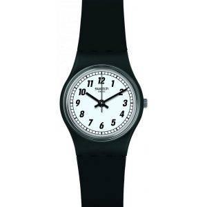 Swatch alkuperäiset jotain musta analoginen Quartz LB184 naisten Watch