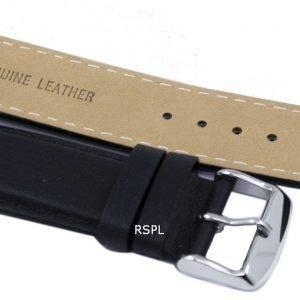 Musta suhde tuotemerkin nahkahihna 22mm SKX007, SKX009, SKX011, SNZG07, SNZG015