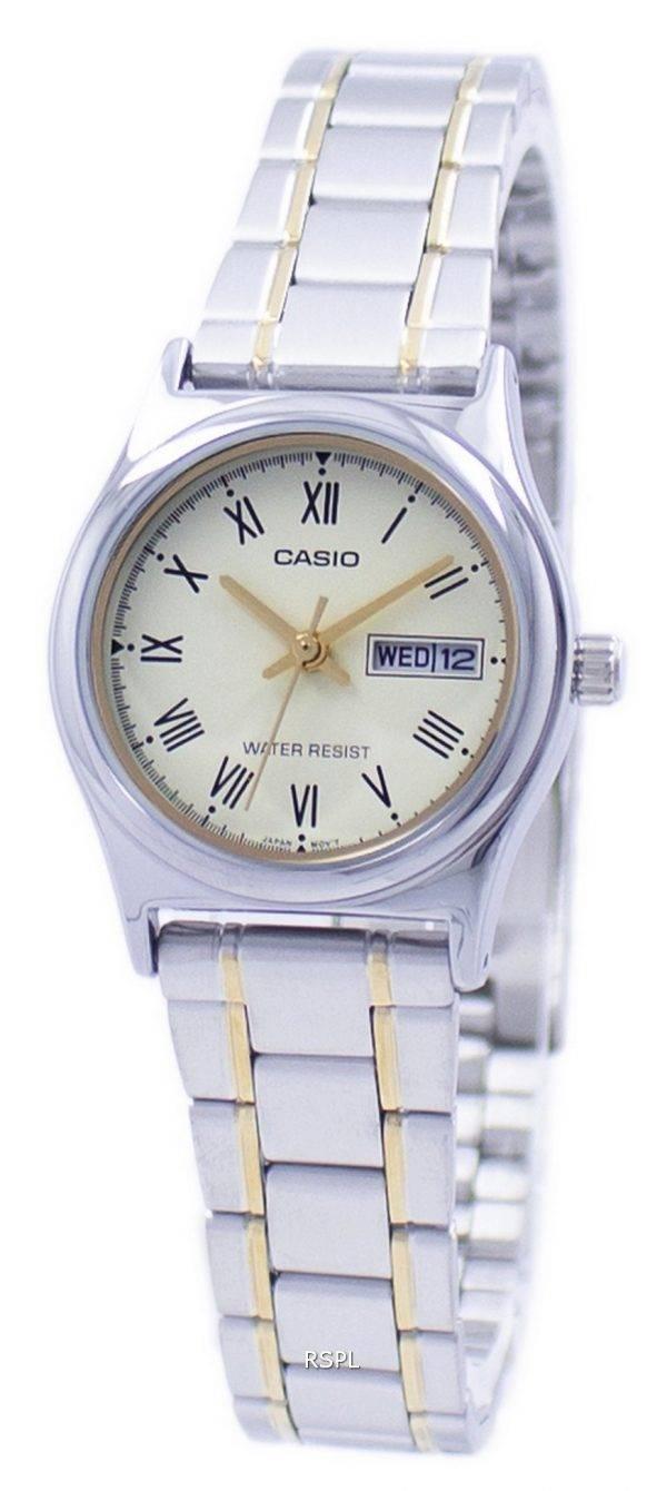 Casio analoginen kvartsi LTP-V006SG-9 LTPV006SG-9B naisten Watch