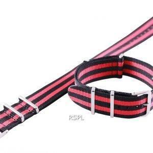 Seiko 22 mm punainen/Teachers & musta Naton hihna SKX007, SKX009, SKX011, SRP497, SRP641