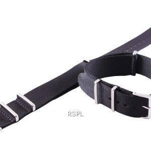 Seiko 22mm musta Naton hihna SKX007, SKX009, SKX011, SRP497, SRP641