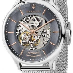Maserati herrasmies R8823136004 automaattinen luuranko Miesten Watch