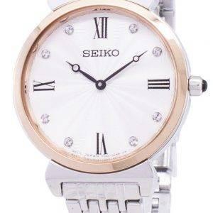 Seiko kvartsi SFQ798 SFQ798P1 SFQ798P Diamond aksentti naisten Watch