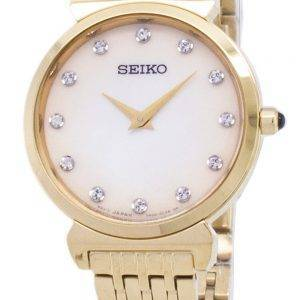 Seiko kvartsi SFQ802 SFQ802P1 SFQ802P Diamond aksentti naisten Watch