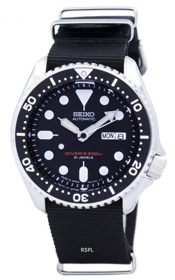 Seiko automaattinen Diver 200M Naton hihna SKX007J1 NATO4 Miesten kello
