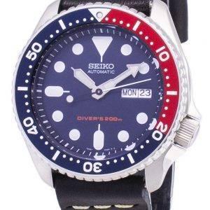 Seiko automaattinen SKX009K1 LS14 Diver 200M musta nahka hihna Miesten Watch