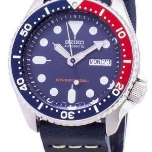 Seiko automaattinen SKX009K1 LS15 Diver 200M tummansininen nahka hihna Miesten Watch