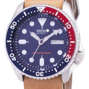 Seiko automaattinen SKX009K1 LS18 Diver 200M ruskea nahka hihna Miesten Watch