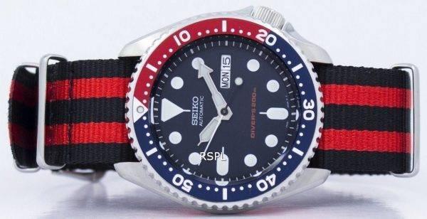 Seiko automaattinen Diver 200M Naton hihna SKX009K1 NATO3 Miesten kello