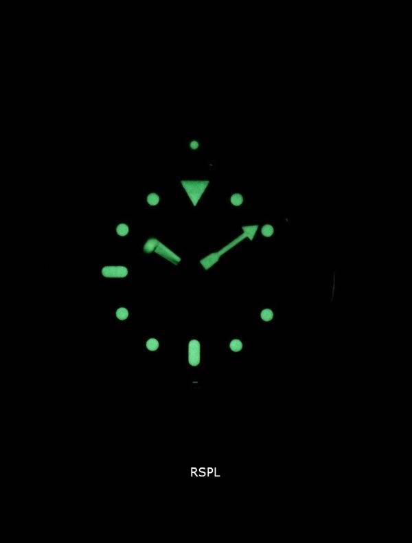 Seiko automaattinen Diver suhde musta nahka SKX011J1 LS10 200M Miesten Watch