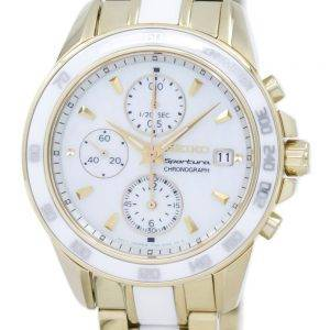 Seiko Sportura Chronograph kvartsi nopeusmittarin SNDX02 SNDX02P1 SNDX02P naisten Watch