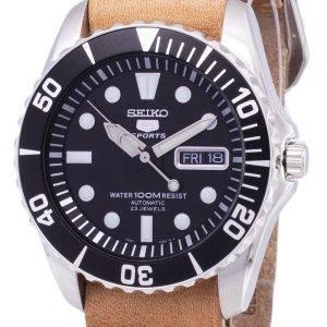 Seiko 5 urheilu SNZF17K1 LS18 automaattinen ruskea nahka hihna Miesten Watch