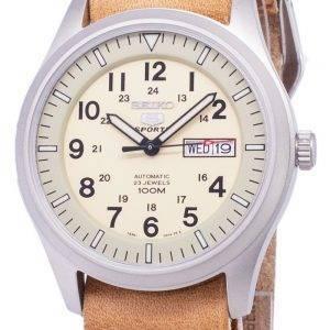Seiko 5 urheilu SNZG07K1 LS18 automaattinen ruskea nahka hihna Miesten Watch