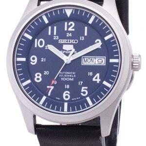 Seiko 5 urheilu SNZG11K1 LS14 automaattinen musta nahka hihna Miesten Watch