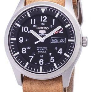 Seiko 5 urheilu SNZG15K1 LS18 automaattinen ruskea nahka hihna Miesten Watch