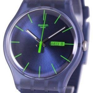 Swatch alkuperäiset sininen Rebel Sveitsin kvartsia SUON700 Unisex kello
