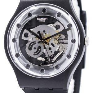 Swatch alkuperäiset hopea Glam Sveitsin kvartsia SUOZ147 Unisex kello