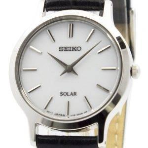 Seiko Solar valkoinen soittaa nahka hihna SUP299P1 SUP299P naisten kello