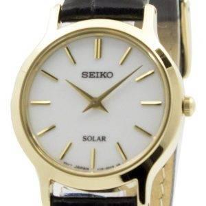 Seiko Solar valkoinen soittaa nahka hihna SUP300P1 SUP300P naisten kello