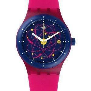 Swatch alkuperäiset Sistem vaaleanpunainen automaattinen SUTR401 Unisex Watch