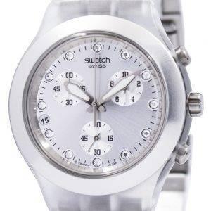 Swatch ironiaa Diaphane täysiverinen hopea Chronograph SVCK4038G Unisex kello