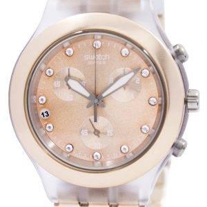 Swatch ironiaa Diaphane täysiverinen karamelli Chronograph SVCK4047AG Unisex kello