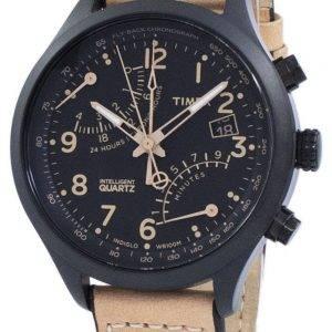 Timex älykäs Indiglo lentää takaisin Chronograph Quartz T2N700 Miesten Watch