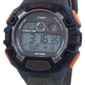 Timex Expedition Shock maailman aika Indiglo Digital T49972 Miesten Watch