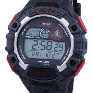 Timex Expedition maailmanlaajuisia häiriöitä maailman aika hälytys Indiglo Digital T49973 Miesten Watch