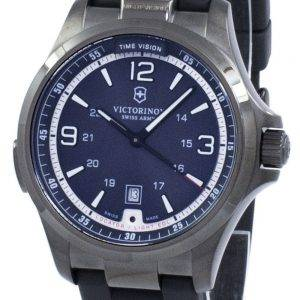 Victorinox Sveitsin armeijan yö visio GMT Quartz 241596 Miesten Watch