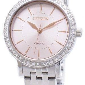 Kansalainen Quartz EL3041-87 X analoginen Diamond aksentti naisten Watch