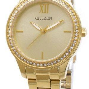 Kansalainen Quartz EL3082 - 55P analoginen Diamond aksentti naisten Watch
