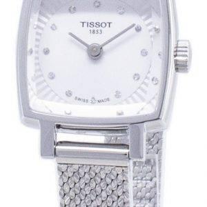 Tissot T-Lady Lovely neliö T 058.109.11.036.00 T0581091103600 Diamond aksentti kvartsi Naisten Kello
