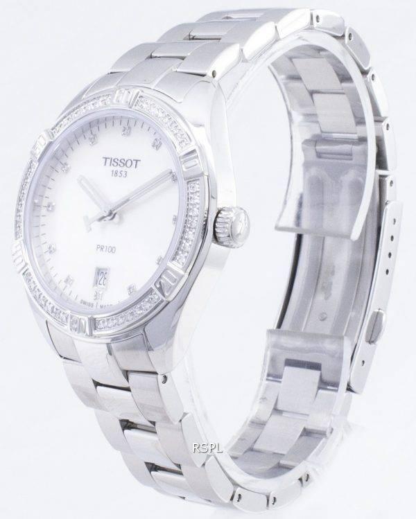Tissot T-Classic PR 100 Lady Sport T 101.910.61.116.00 T1019106111600 Diamond aksentti kvartsi Naisten Kello